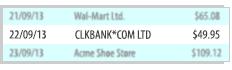 bank statement sample